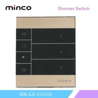 Wireless tempered glass 220V can OEM smart light dimmer switch