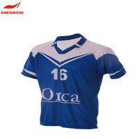 Custom rugby club sublimation rugby jersey, short sleeve rugby wear rugby clothing