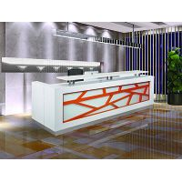 bar floor shop fashionable cool straight lacquer reception desk table counter furniture#Q2406