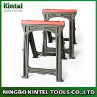 Foldable sawhorse, Plastic trestle, wood standing