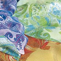 Opal-Finished Georgette Crepe (silk fabric)