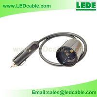 Car cigarette light plug to E27 Socket Adapter Cable thumbnail image
