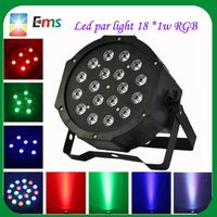 High power led par light 18 pcs*1w stage light rgb led flat par light wholesale
