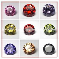 Round wholesales colorful cz stone as mainstone