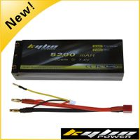 7.4V 5200mAh 35C RC Car Battery for 1/8 1/10 rc car with TRX traxxas