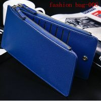 PU Wallet Multi Card Organizer Wallet with Zipper Pocket