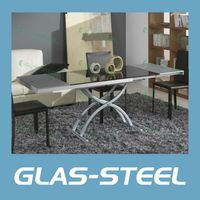Glas-Steel Extension Dining Table BT203