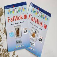 Wholesale - FalWok CS Unlock sim card for iPhone 5S/5C/5/4s ios7.1-7.X Unlock all Carrier use 3G sim