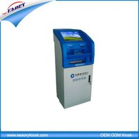 19'' touch screen payment kiosk machine with photo printing