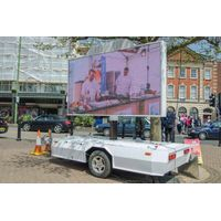YEESO YES-T5 Outdoor Mobile LED Advertising Trailer With Screen Lifting System