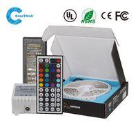 16.4ft 60leds/m DC12v IP33 RGB led strip light + 5A adapter + 24 key controller
