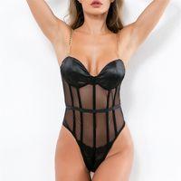 Black Cutout Choker Neck Sexy sheer mesh Lingerie