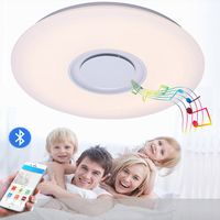 Led bluetooth music ceiling lamp, modern simple bedroom / living room dimming ceiling lights