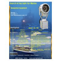 Search and fog light for ships navigation