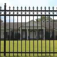 Wrought iron fence/ ornamental fence/ iron steel fence