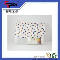 A4 PP File Folder Plastic 6 Pockets Expanding Wallets File Folder Expanding Bag
