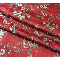 Chinese silk cheongsam Chi-pao fabric Ancient plum bamboo embroidery brocade