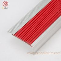 Anti-slip durable metal L shape right angle PVC rubber insert stair edge nosing for stair tread thumbnail image