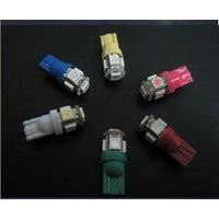 Bright LED Xenon white bulbs which have 5 LED's in each and T10 sockets