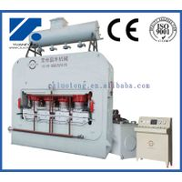 Short cycle veneering hot press machine for plywood lamination