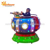 Original manufacturer cup carousel amusement rides fiberglass happy rotating coffee cup kiddie ride thumbnail image