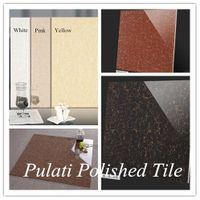 Pulati White Black Brown Red Yellow Colour Double Charged Vitrified Porcelain Floor Tile Price