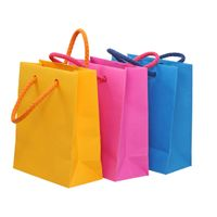 Colorful recycled shopping bags