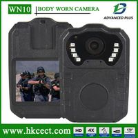 High Quality WN10 Waterproof 1080p full hd Waterproof 8IR night vision action Police body worn video