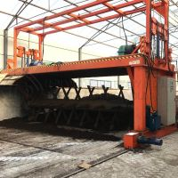 Groove type compost turner machine equipment for fermentation