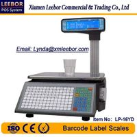 Barcode Label Printing Scale, Supermarket Thermal Printer Multi-language LCD Display Weighing Scales thumbnail image