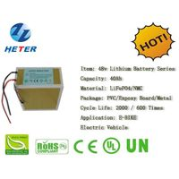 48v40Ah E-Bike Lithium Battery; EV/Scooter/Moped Battery; LiFePO4/NMC Battery Series; 48v Li-ion Bat