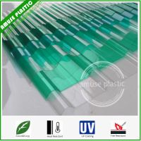 100% Virgin Lexan Plastic Building Material Solid Corrugated PC Roof Sheet thumbnail image