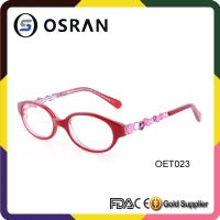 Kids Acetate Optical Frames With Metal Combination Pad Print For Kid's And Kids Fashion Eyeglasses