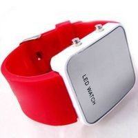 Silicone Strap Red LED Digital Sports Watch thumbnail image