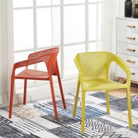 Outdoor Furniture Plastic Dining Chair Lounge Style Leisure Chairs thumbnail image
