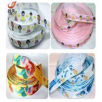 customized printed fashion cartoon grosgrain ribbon from China manufactory