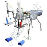 Semi-automatic Double Head Liquid Filling Machine