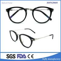Fashion Designer Womens Oval Tr Optical Eyeglasses Frame with Clear Lens