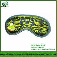 custom design printed sleep eye mask trave mask for airplane