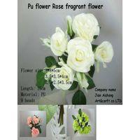 PU Flower rose  Fragrant Flower Real touch feelings