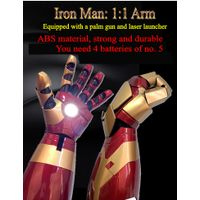 iron man 1:1 armor wearable arm helmet mk42 gloves high quality touch electric open thumbnail image