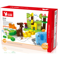 zoo brick block set duplo competible free baseplate
