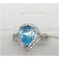 Big Center Stone Cubic Zirconia Fashion Rings Jewelry thumbnail image