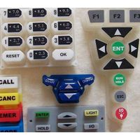 laser etched silicone rubber keypad