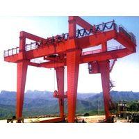 32 ton double girder goliath crane with electric trolley
