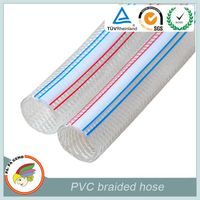Wire reinforced PVC braided hose