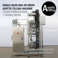 200 Litre Bulk Bag Aseptic Filler 220 Kg Bag in Drum Aseptic Filling Machine