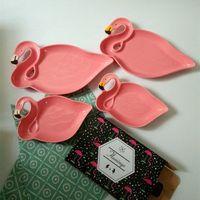 New bone china dinnerset creative flamingo plate, salad plate, household plate OEM thumbnail image