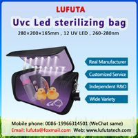 Fold-able UV Sanitizer Bag, UVC Cleaner Disinfection Lamp, Portable USB Rechargeable Box underwear
