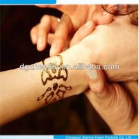 water transfer females temporary tattoo gold foil tattoo skin sticker temporary
